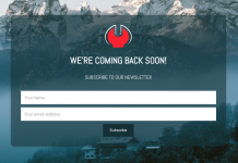 Wordpress Minimal Coming Soon and Maintenance Plugin