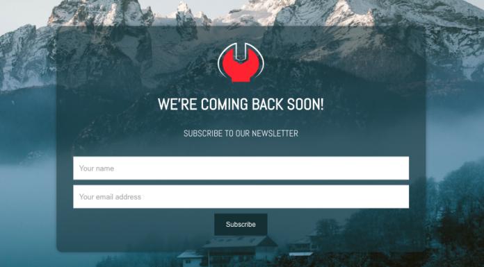 Wordpress Minimal Coming Soon and Maintenance Plugin