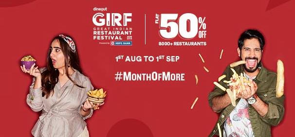 Great Indian Restaurant Festival August 2019